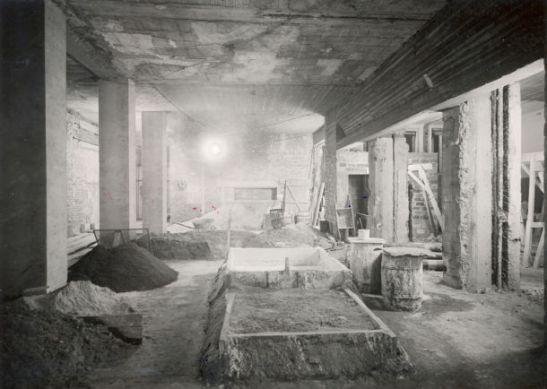 Budowa nowego holu, rok 1946