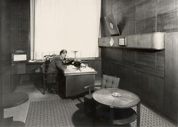 Wnętrze radia, rok 1947