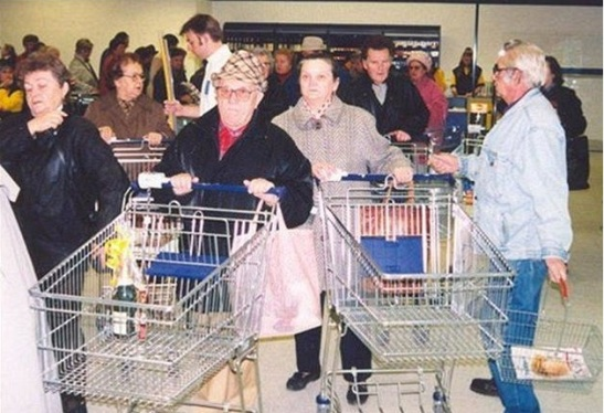 Zakupy w roku 1991