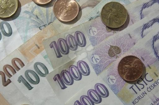 peníze, mince, bankovky