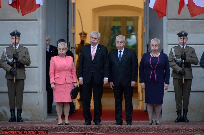 Prezydenci Polski oraz Czech wraz z małżonkami.