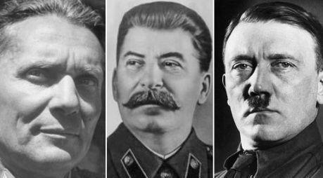 Trzech agresorów: Tito, Stalin i Hitler