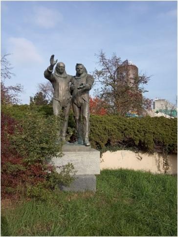 Pomnik kosmonautów Vladimíra Remka i Aleksieja Gubariewa